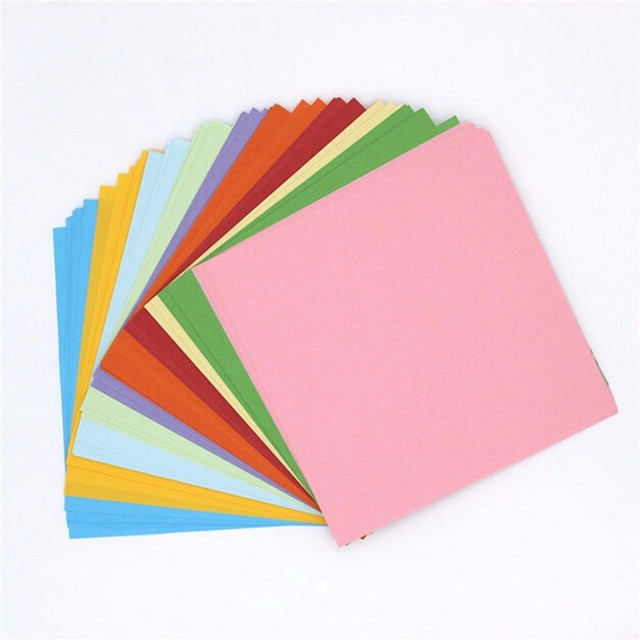 Origami Paper Double Sided Coloured Craft Square Assorted Diy Folded