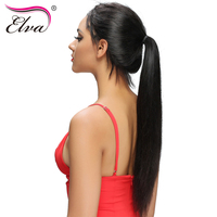 Elva Hair Straight Lace Front Human Hair Wigs Brazilian Remy Hair Natural Color 10 26 Glueless
