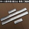 De alta qualidade em aço inoxidável Placa Scuff/Peitoril Da Porta estilo Do Carro apto para 2007-2013 Toyota Yaris