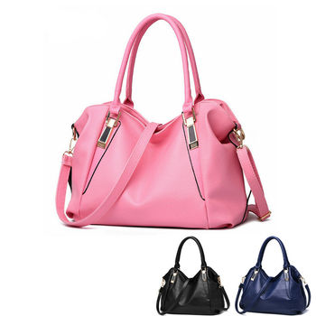 2019 Newest Fashion Handbag Shoulder Bag Tote Purse Soft PU Leather Women Messenger Hobo Bag