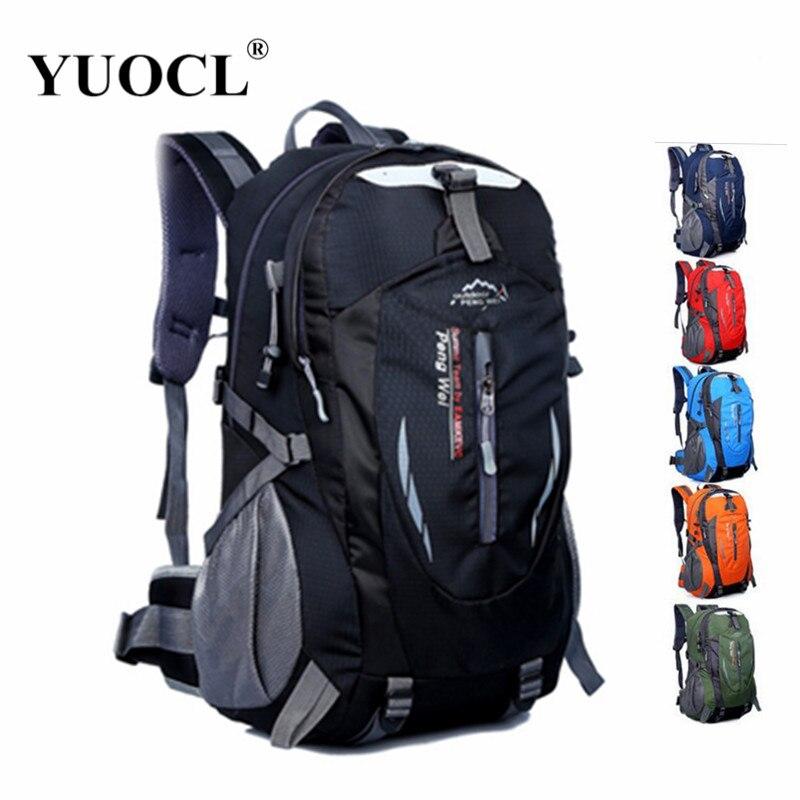 2016 New Waterproof Nylon Backpack Bag Rucksack Mountaineering Men's Travel Bags 7 color