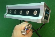 SAA 100-240V AC IP65 5x8W RGBW LED wall washer light with internal DMX controlled