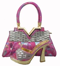 High Quality Italian Matching Shoes And Bags Set Wholesale African Women Shoes And Matching Bags Set For Party 1308-38