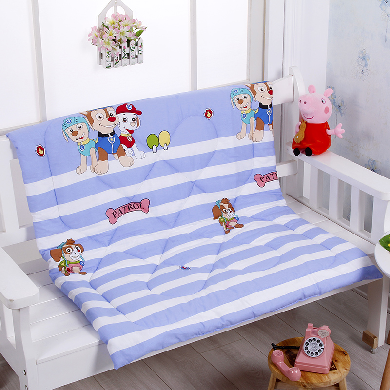100 110 CM Baby Summer Quilt Quilted Cotton Cartoon Animal Newborn Blanket Mattress Air Conditioning Quilt Kids Cartoon Bedding in Quilts from Mother Kids