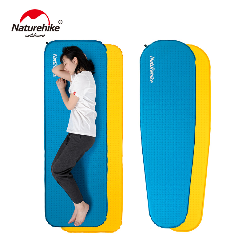 Naturehike Camping Mattress Lengthened Self-inflating Mat High Quality Sponge Sleeping Pad Outdoor Hiking
