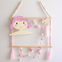 Nordic Style Decor Kids Clothes Hanger Baby Girl Room Wall Decoration Rack Set Nursery Decorative Ideas