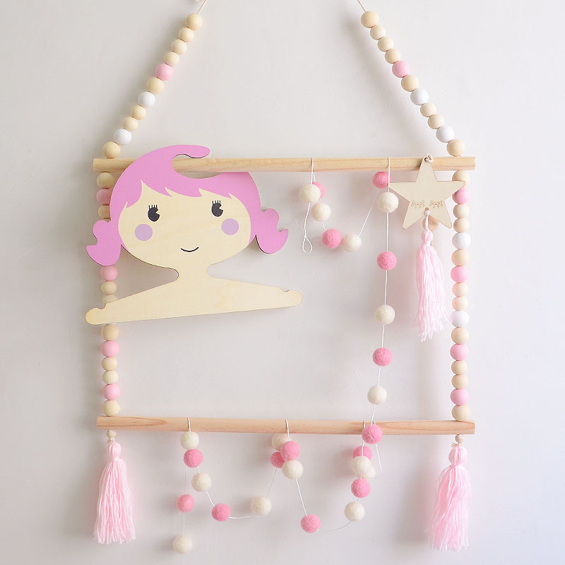 Nordic Style Decor Kids Clothes Hanger Baby Girl Room Wall