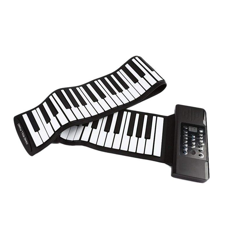 Hot électrique rouleau Piano Portable pliant 88 clé souple Silicone électronique clavier de musique Piano Usb haut-parleur Us Plug