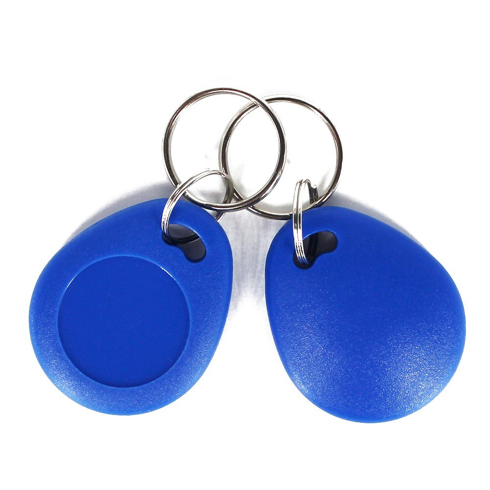 10pcs 13.56MHz RFID MF Classic 1k Keyfobs Keychains ISO14443A access control key card token Smart Key Tag-Blue Color10pcs 13.56MHz RFID MF Classic 1k Keyfobs Keychains ISO14443A access control key card token Smart Key Tag-Blue Color