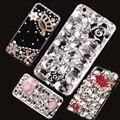 Novo Luxo 3D Bling Cristal Rosa Quente Da Flor Da Camélia Lábio Diamante telefone case capa para iphone 7 fundas coque capa case hot hot