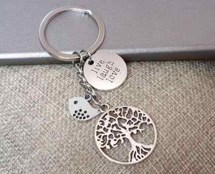... LIVE LAUGH LOVE Tree of Life Bird Keychain For Keys Car Bag Key Ring  Handbag Key Chains Gifts Crafts Accessories on Aliexpress.com  c0e1d9c5b4cde