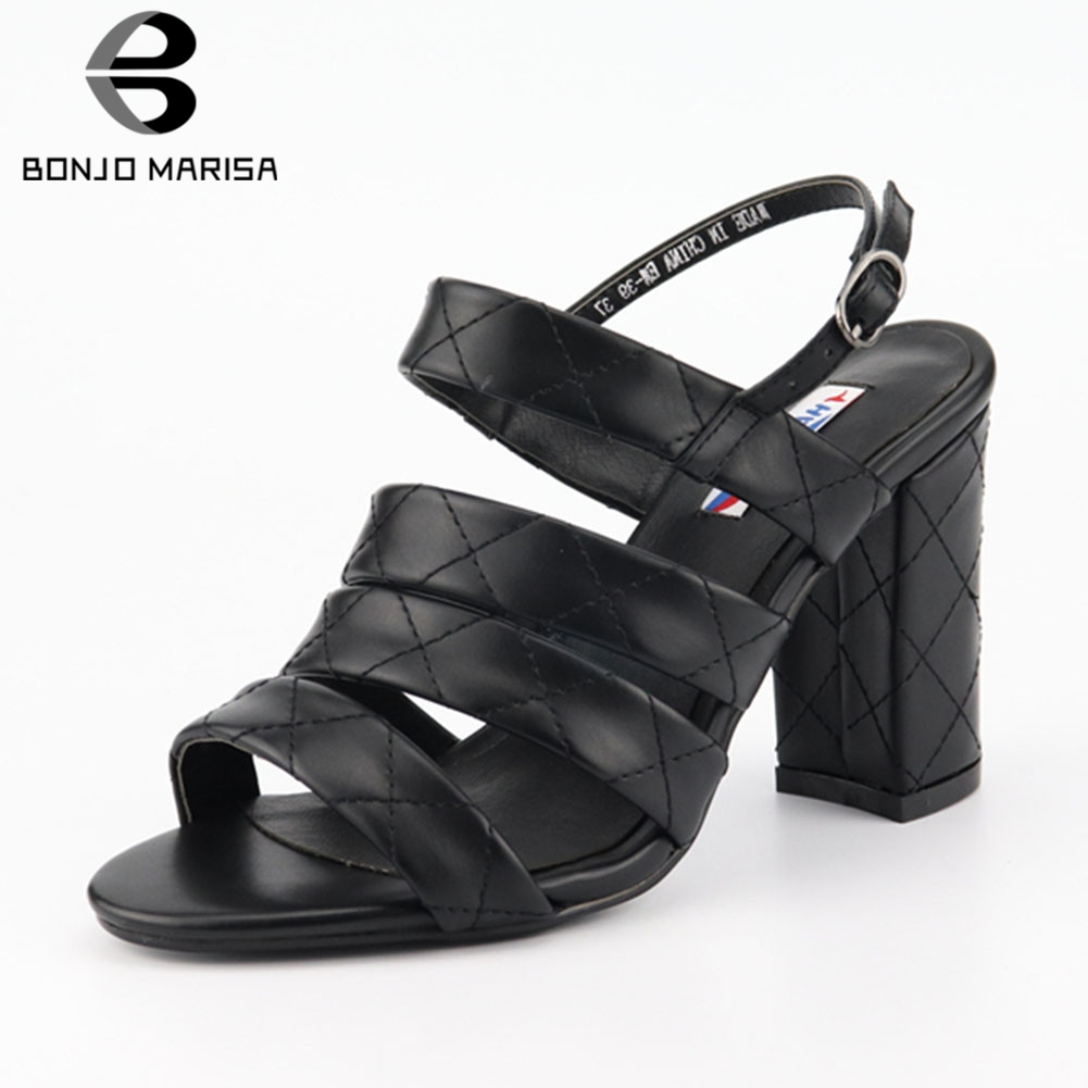 BONJOMARISA Brand New Plus Size 33-46 Ladies High Heels Women Shoes Woman Casual Party Office Summer Sandals Female FootwearBONJOMARISA Brand New Plus Size 33-46 Ladies High Heels Women Shoes Woman Casual Party Office Summer Sandals Female Footwear