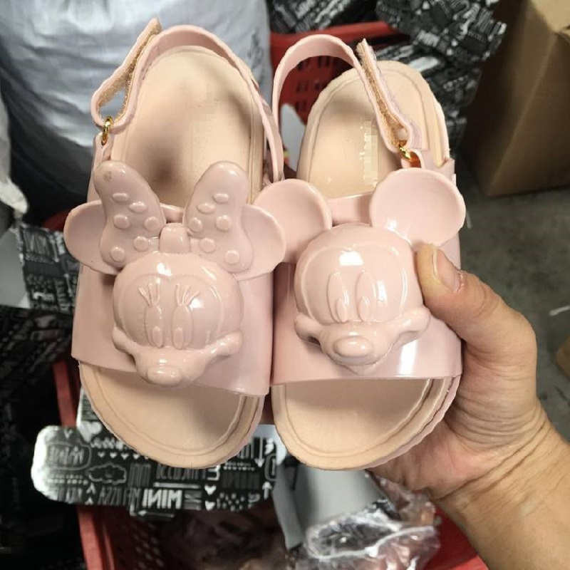 Girls Sandals Jelly Sandals Non-slip Beach Shoes Micky And Minnie Baby Infant Shoes Children Summer Shoes Kids Gladiator Sandals