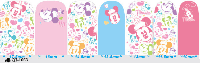 Schöne Nail Art Aufkleber Mickey Minnie Print Nail Tips Full Cover - Nagel Kunst - Foto 6