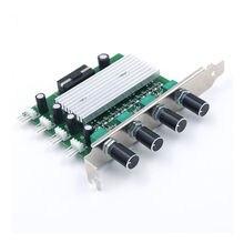 الكمبيوتر PCI جهاز تحكم في سرعة المروحة ث/إيقاف التبديل الكمبيوتر 4 قناة 3 دبوس سلك التبريد مروحة التحكم في السرعة
