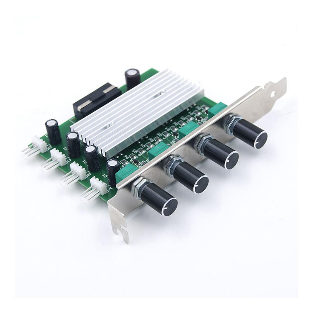 Pc PCI Fan Speed Controller W/Off PC 4 Canal 3 broches Fil vitesse Du Ventilateur De Refroidissement