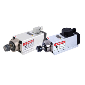 Image 2 - CNC 2.2KW 220V 380V 24000rpm Air cooled Square Spindle Motor ER20 Runout off 0.002mm for CNC milling with Plug/Cable Box Version