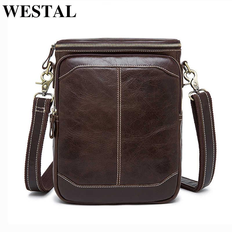 25eed0ad08b2 WESTAL Горячая распродажа мужчины сумка мужчины кроссбоди мужская сумка  100% подлинные кожаные сумки новых бесплатная