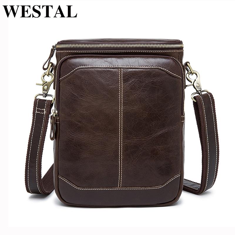 WESTAL Orijinal Dəri Messenger çantası kişi çantası kişi dəri - Çantalar - Fotoqrafiya 1