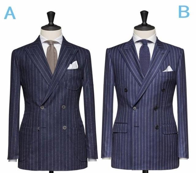 Mais recentes Modelos Casaco Calça Azul terno Homens Blazers Retro feito sob medida Noivo Smoking Ternos Breasted Dobro para o Casamento (paletó + Calça)