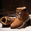 UNN Marca Caliente Más Nuevo Mantener Caliente Botas de Invierno Los Hombres calidad de la pu de Cuero Casual Botas Moda Bota de Trabajo Esencial de la Felpa zapatos
