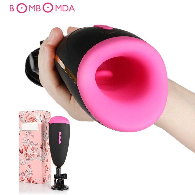 Echt Vagina Vibrierende Blowjob Männlichen Masturbator Tasse Deep Throat Oral Saugen Sex Maschine Vibrator Erotische Erwachsene Sex Spielzeug für Männer