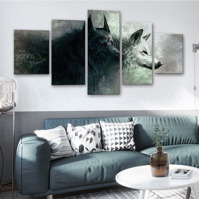 Canvas Art Painting Animal Wolf Decorative Pictures Modern Home Decor Modular Posters And Prints Bedroom Decoration