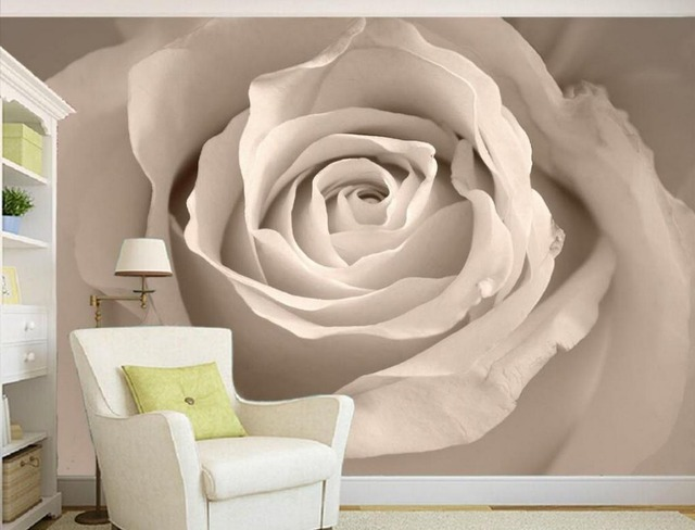 White Roses Background Decorative Painting 3d Wallpaper Flower Home Decoration Stereoscopic