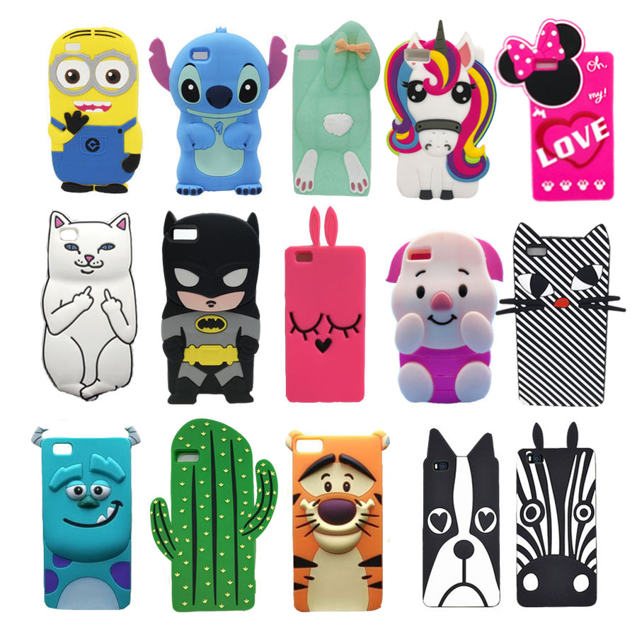Galleria fotografica For Fundas Huawei P8 Lite P8lite Case Cute 3D Cartoon Minnie Girl Silicone Back Cover Capas Para For Huawei Ascend P8 Lite Coque