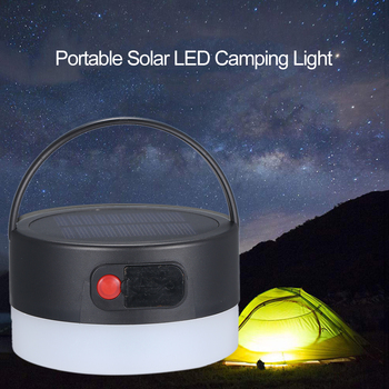 Mini Solar or USB Portable Solar LED Camping Light Lantern Tent Hanging Flashlight in tent 4 Modes Night Lamp for Hiking Camping