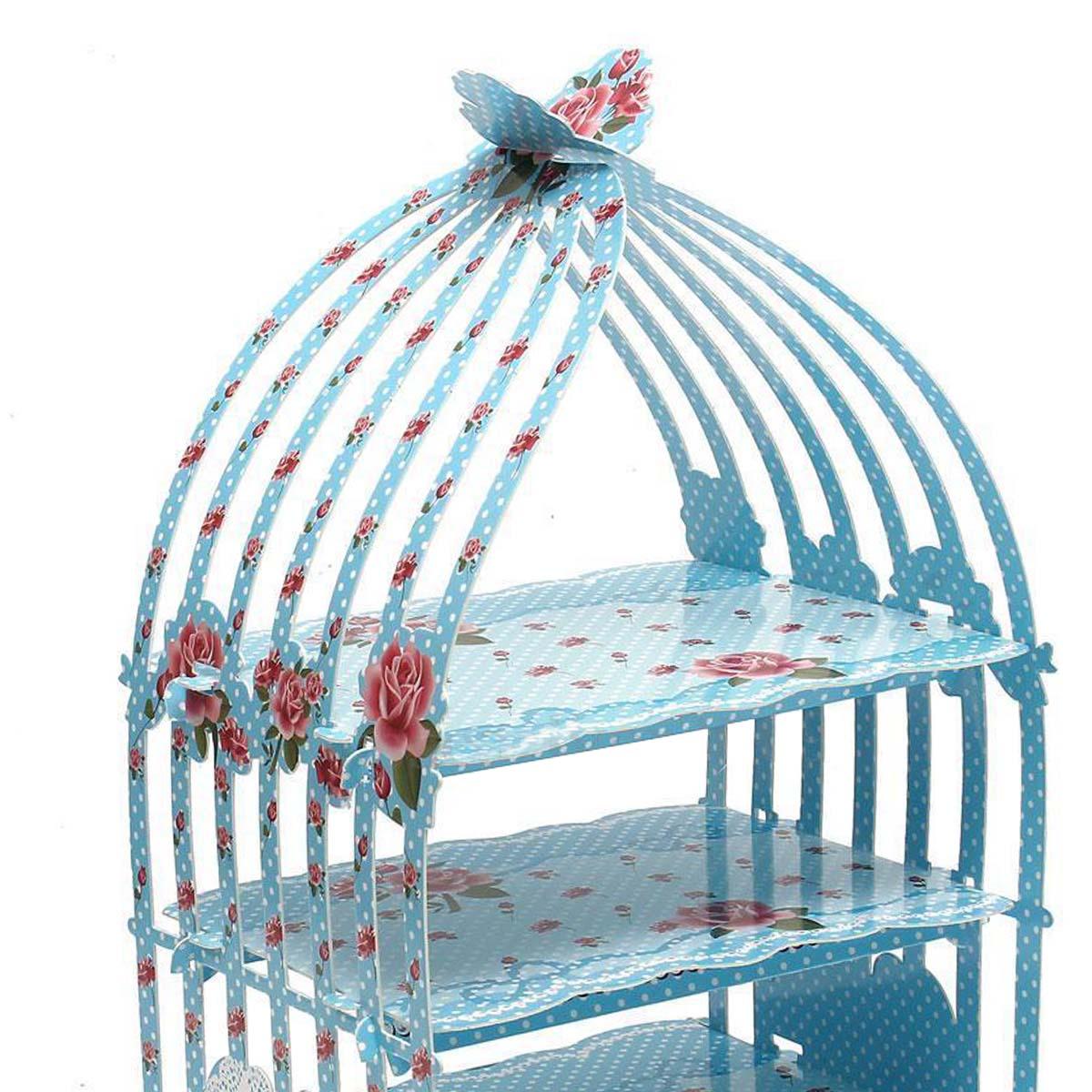 Vogelkafig Cupcake Karton Tortenstander Vintage Hochzeit Tea Party