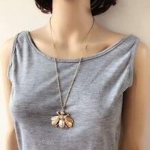 Crystal Bug Pendant Necklace