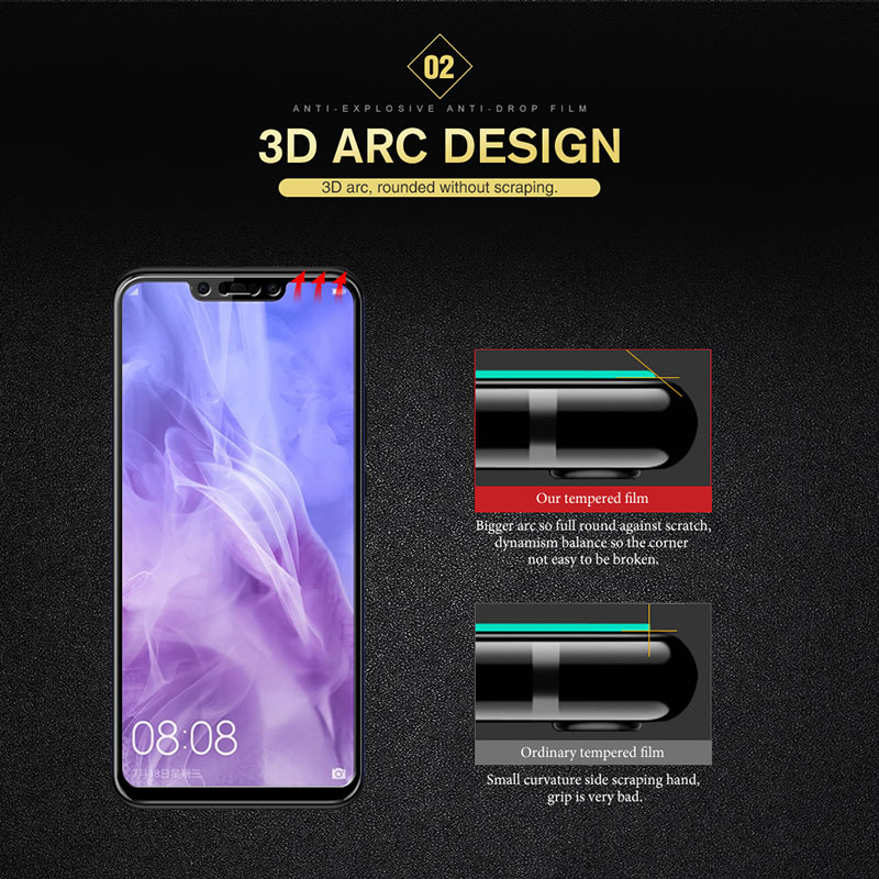 3D 9H Tempered Glass For huawei Nova 3i 3 2S 2 Plus Screen Protector For Huawei G8 P Samrt 2019 2018 Protective Glass Film Guard