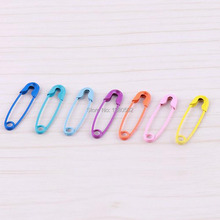 100pcs /lot Mulitcolor 19mm Metal Safety Pin Label DIY For Garment sewing tool
