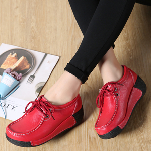 Image 4 - JZZDDOWN אמיתי עור נעלי אישה פלטפורמת תחרה עד נשים סניקרס פלטפורמה מקרית נעלי יוקרה נעלי נשים נשיות