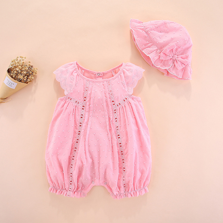 summer baby   rompers   short sleeve newborn girl Cotton Short Solid new born baby clothes gift set baby clothing 0 3 6 months