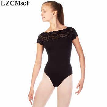 LZCMsoft Girls Lace Black Leotard For Gymnastics Child Spandex Lycra Short Sleeves Ballet Leotards Dancewear Team Performance - DISCOUNT ITEM  35% OFF All Category