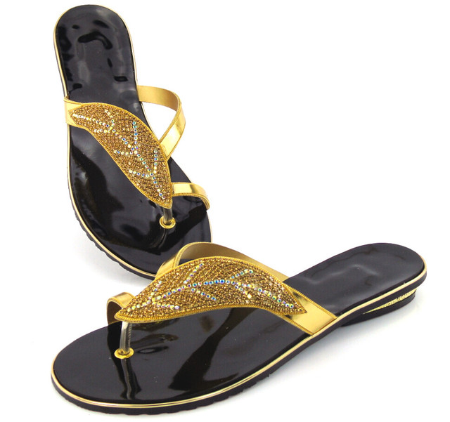 quality design 335f9 3a1e9 US $48.36 38% OFF|Doershow gold Whoesale Elegante Damenschuhe Gut  Aussehende African Sandalen Schuhe Freies Verschiffen! DD1 72 in Doershow  gold ...