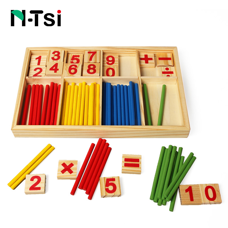 Montessori Toys Materials Counting Sticks Kids Baby Educational Wooden Math Toys For Children Kid Early Learning Kit Montessori