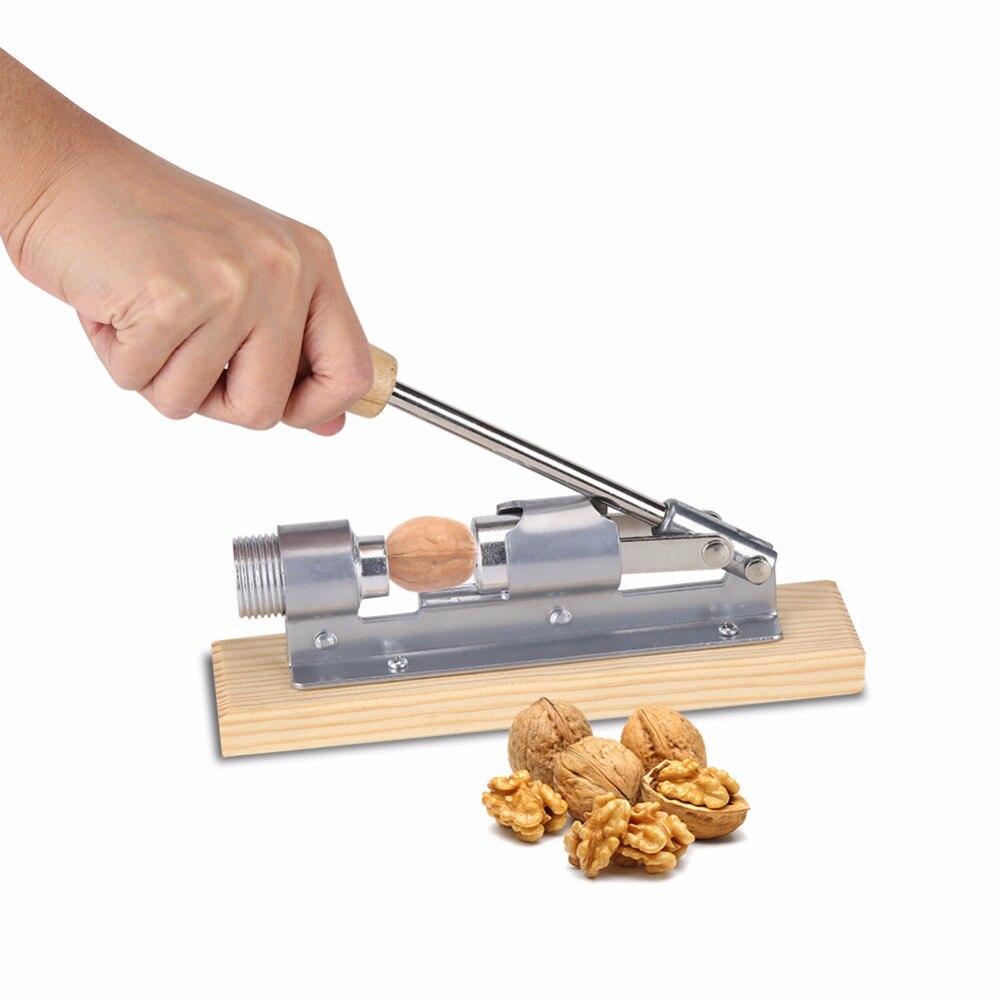 Hazelnut Cracker Walnut Cracker Also as Bottle Opener com-four/® Nutcracker with Wooden Handle