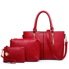 Plaid Women Handbags Sets European and American Style PU Leather Handbag Women Messenger Bags Design Ladies