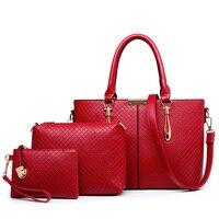 Plaid Women Clutch Handbags Sets European American Style PU Leather Messenger Bags Design Ladies Purse Tote