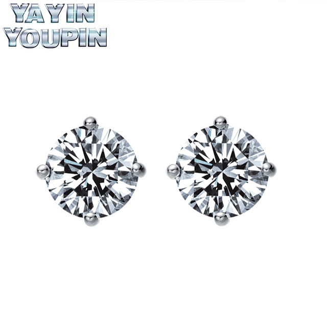 YA YIN YOU PIN S925 Pure Silver Earrings Large Pieces Of Shiny  Fine Jewelry Professional S925 Sterling Silver Factory