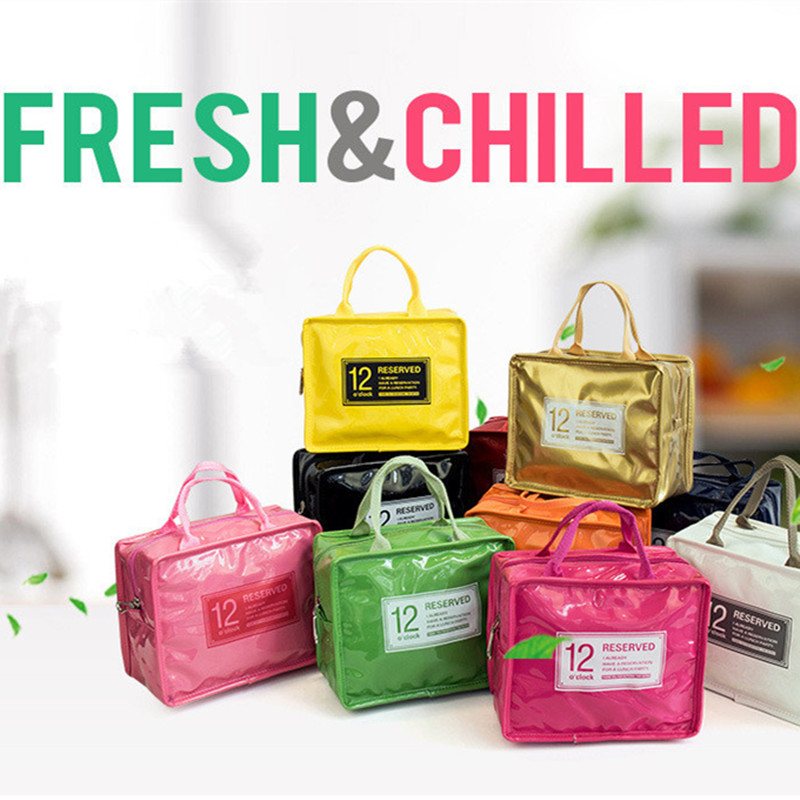 Thermo Lunch Bags Cooler Insulated Lunch Bags For Women Kids Thermal Girls Bag Lunch Box High Capacity Food Picnic Bags Tote