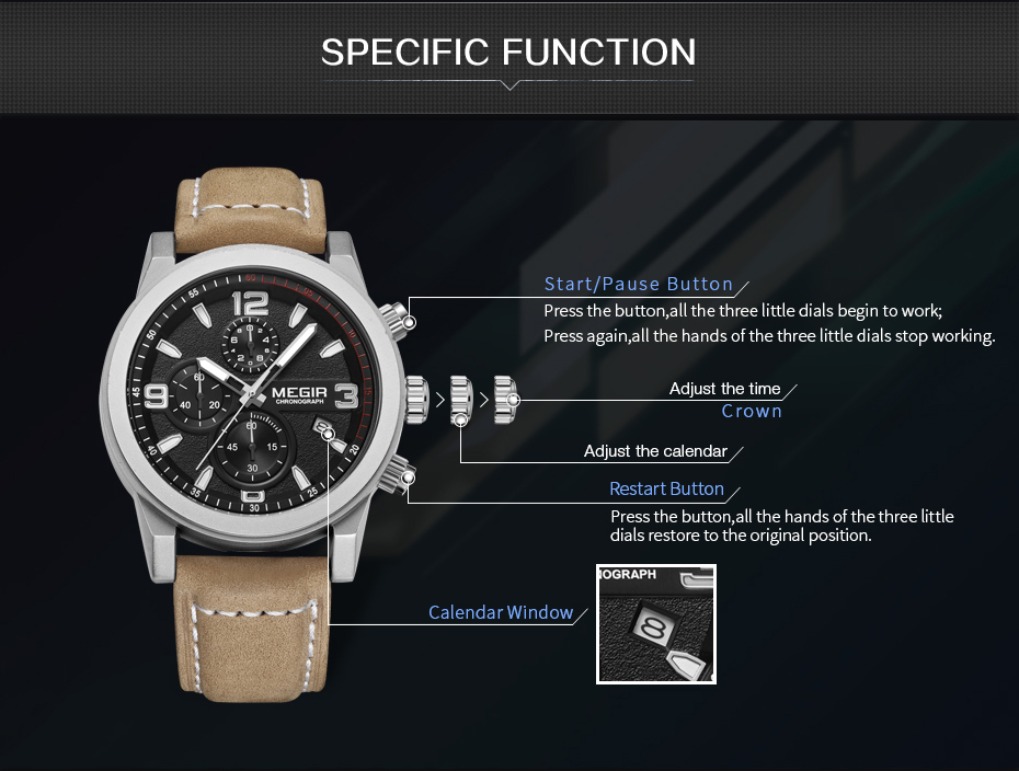 MEGIR Fashion Sport Watch Luxury Brand Leather Band Men Quartz Watches Chronogragph Clock Men Army Military Wrist Watch for Male 5  MEGIR Fashion Sport Watch Luxury Brand Leather Band Men Quartz Watches Chronogragph Clock Men Army Military Wrist Watch for Male HTB1fi6CPXXXXXb8XVXXq6xXFXXXy