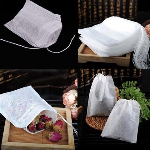 HIFUAR 100 Pcs Tea Bags Bags For Tea Bag Infuser With String Heal Seal 5.5 x 7CM Sachet Filter Paper Teabags Empty Tea Bags Multan