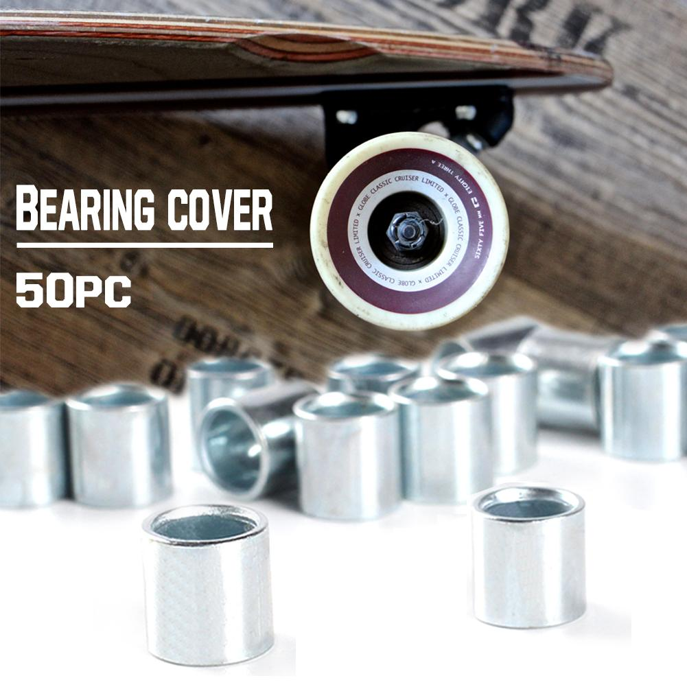 50pcs Four-Wheeled Skateboard Bearing Cover Spacers Skateboard Accessories Fish Skateboard Accessories