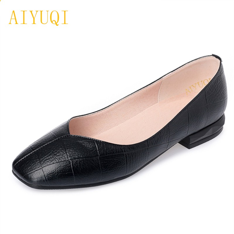 AIYUQI Plus size 41#42#43# women's flat shoes 2018 spring new genuine leather women shoes soft surface mom shoes women aiyuqi plus size 41 42 43 women s flat shoes 2018 spring new genuine leather women shoes soft surface mom shoes women