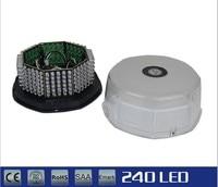 240 LED Amber Magnetic Beacon Light Emergency Warning Strobe Yellow Roof Round