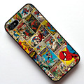 Comics Spiderman Caso Capa, caso para apple iphone 4s 5 5s se 5c 6 6 s 6 mais 6 s plus